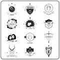 Zodiac Sign in Vintage Badge Style Royalty Free Stock Photo