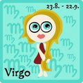 Zodiac Sign - Virgo Stock Photography