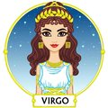 Zodiac sign Virgo. Royalty Free Stock Photo