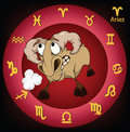 Zodiac signs. Aries. Cartoon Stock Photography