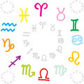 Zodiac signs circle Royalty Free Stock Photos