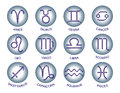 Zodiac signs on circle. Royalty Free Stock Photo