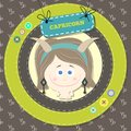 Zodiac signs collection horoscope capricorn cute vector illustration set Stock Images