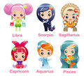 Zodiac signs Icon set part 2 Royalty Free Stock Images
