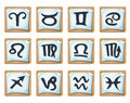 Zodiac Signs And Icons Set Royalty Free Stock Photo