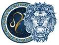 Zodiac signs - Leo Royalty Free Stock Photo