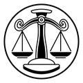 Zodiac Signs Libra Scales Royalty Free Stock Photo