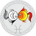 Zodiac signs pisces Royalty Free Stock Photo