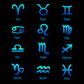 Zodiac signs - vector Royalty Free Stock Photo