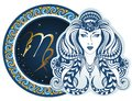 Zodiac signs - Virgo Royalty Free Stock Photo