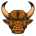 Zodiac taurus bull representing sign or just a sharp vector graphic for general use layered and easy to edit Royalty Free Stock Images