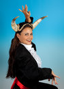Zodiac taurus woman or bull this photo is part of a series of twelve signs of astrology Royalty Free Stock Photography