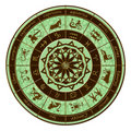 Zodiac wheel horoscope Stock Image