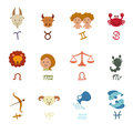 Zodiacal icons Stock Photos