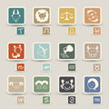 Zodiacal icons Stock Image