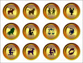 Zodiacal signs set Royalty Free Stock Image