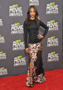 Zoe saldana at the mtv movie awards at sony studios culver city april los angeles ca picture paul smith featureflash Stock Photos