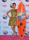 Zoe saldana at the teen choice awards at the gibson amphitheatre universal city july los angeles ca picture paul smith Royalty Free Stock Photos