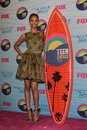 Zoe saldana at the teen choice awards press room gibson amphitheatre universal city ca Royalty Free Stock Image