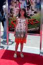 Zoe webb arriving at the shorts premiere at gauman s chinese theater in hollywood ca on august Royalty Free Stock Photos