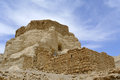 Zohar fortress in judea desert ancient ruins of israel Royalty Free Stock Photography