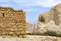 Zohar fortress in judea desert ancient ruins of israel Royalty Free Stock Photo