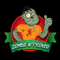 Zombie Approved Seal Royalty Free Stock Image