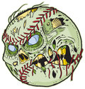 Zombie baseball vector cartoon a color elements are in a separate layer in the eps for easy customization Royalty Free Stock Photo
