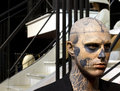 Zombie boy model rick genest also known as statue at the grévin museum in montréal Royalty Free Stock Images