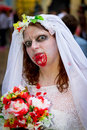 Zombie bride Stock Photos