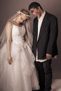Zombie bride and groom full makeup Royalty Free Stock Photos