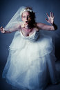 Zombie bride young woman as a shot in studio Royalty Free Stock Photos
