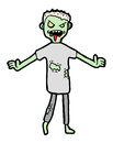Zombie cartoon Royalty Free Stock Photos