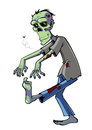 Zombie cartoon isolated on white Royalty Free Stock Photography