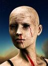 Zombie en Hemel Royalty-vrije Stock Afbeeldingen