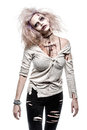 Zombie girl a scary undead Royalty Free Stock Photo