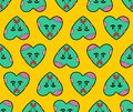 Zombie love pattern seamless. green heart background. Dead amour Vector texture Royalty Free Stock Photo