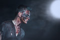 Zombie in the moonlight scary Royalty Free Stock Photography