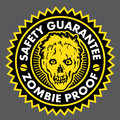 Zombie Proof, Safety Guarantee Seal Stock Photo
