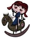 Zombie Rocking horse Royalty Free Stock Photo