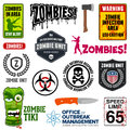 Zombie signs set of graphics and related symbols Royalty Free Stock Image
