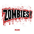 Zombie text zombies lettering illustration comic design Royalty Free Stock Photos