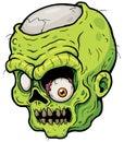 Zombie vector illustration of cartoon face Stock Image
