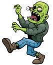Zombie vector illustration of cartoon walking Royalty Free Stock Photos