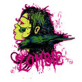 Zombie vector illustration ideal for printing on apparel clothing Stock Photos
