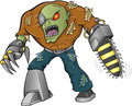 Zombie Warrior Vector Royalty Free Stock Photo