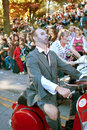 Zombies Ride Motorcycles In Halloween Parade Stock Photography