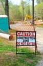 Zona da construção Imagem de Stock Royalty Free