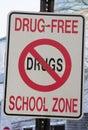 Zona de la escuela libre de la droga Imágenes de archivo libres de regalías