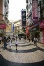 Zona peatonal histórica de Macau Imagen de archivo